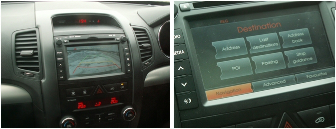 KIA Sorento 2-2 CRDI KX-3 AWD Sat Nav - Road Test Review by Oliver Hammond - touchscreen combined