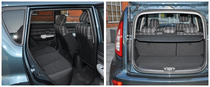 Kia Soul Hunter 1-6 GDi petrol - Road Test Review by Oliver Hammond - combined boot space