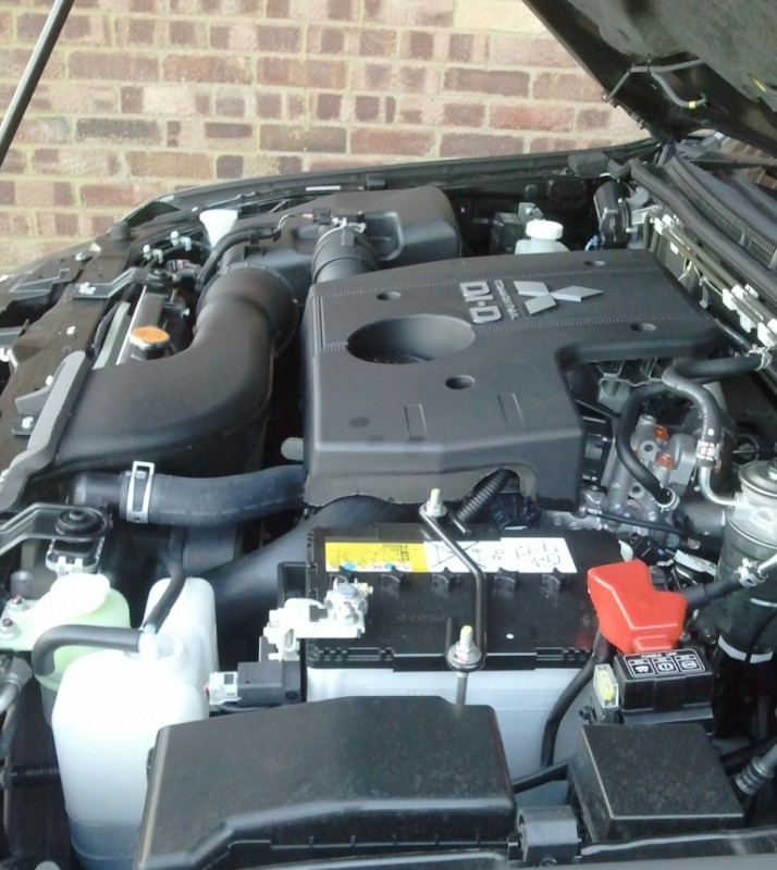 MY 2012 Mitsubishi Shogun LWB SG4 Road Test Review by Oliver Hammond - engine compartment