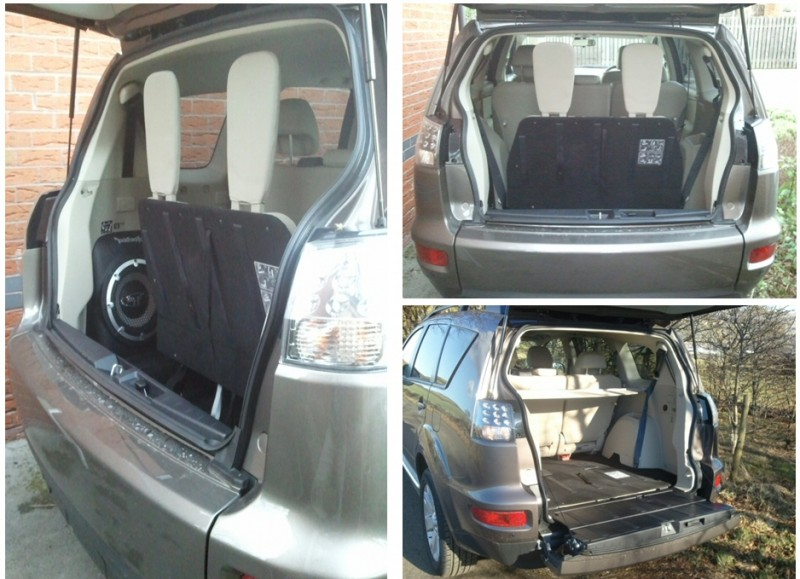 Mitsubishi Outlander 2-2 DI-D Manual GX4 – Road Test Review by Oliver Hammond - combined boot tailgate 7 seats