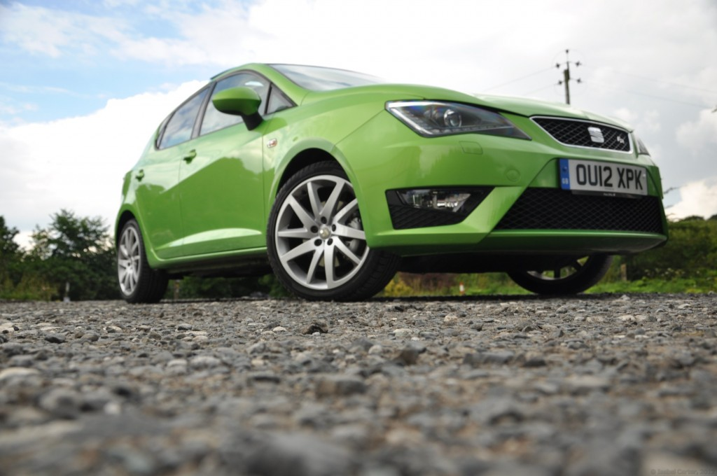 New 2012 SEAT Ibiza 5dr FR 2-0 TDI 143PS road test review by Oliver Hammond - photo - Bolton Abbey Steam Railway front 34b