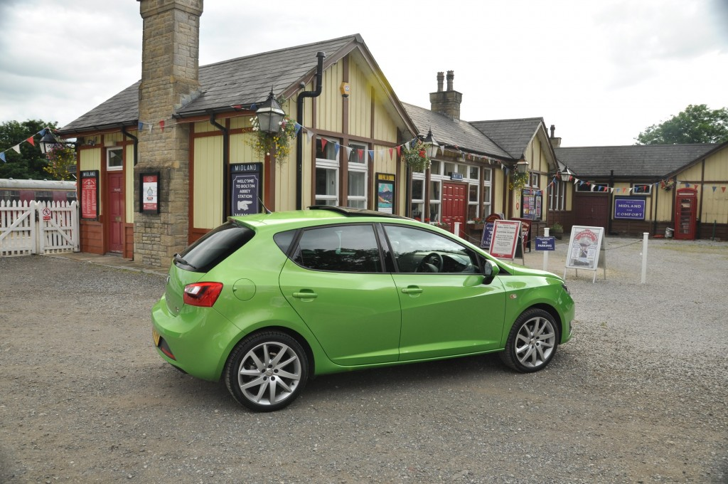 New 2012 SEAT Ibiza 5dr FR 2-0 TDI 143PS road test review by Oliver Hammond - photo - Bolton Abbey Steam Railway side 34d