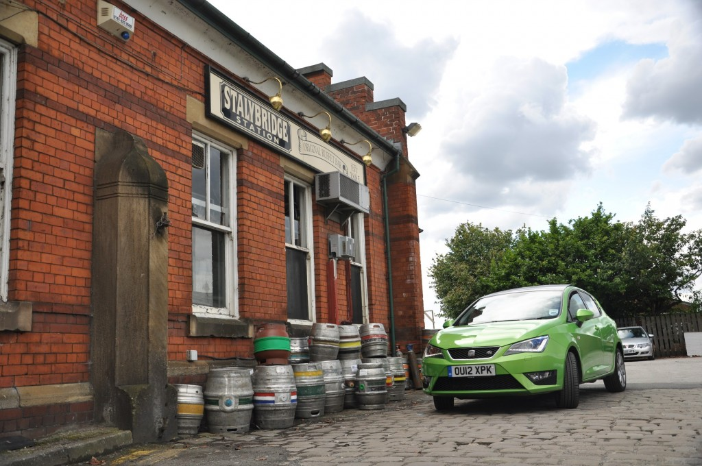 New 2012 SEAT Ibiza 5dr FR 2-0 TDI 143PS road test review by Oliver Hammond - photo - Stalybridge station buffet pubfront 34