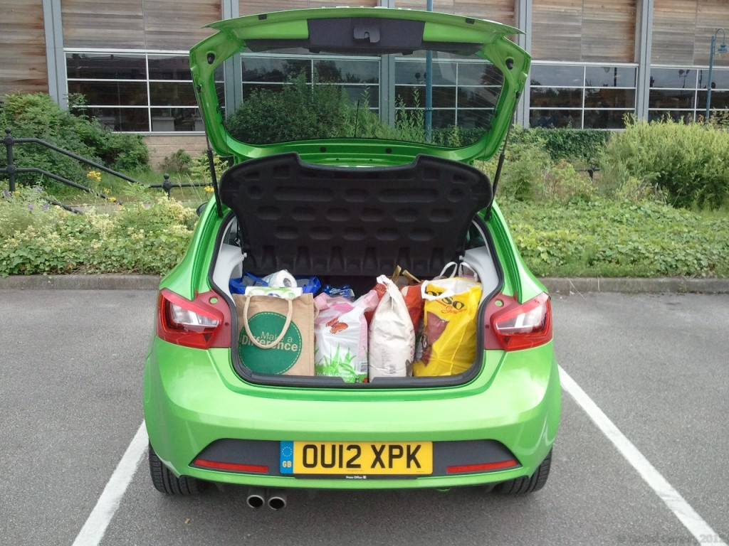 New 2012 SEAT Ibiza 5dr FR 2-0 TDI 143PS road test review by Oliver Hammond - photo - boot luggage capacity