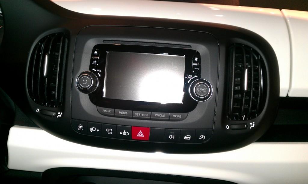 Fiat 500L car launch - My Car Coach - Touchscreen