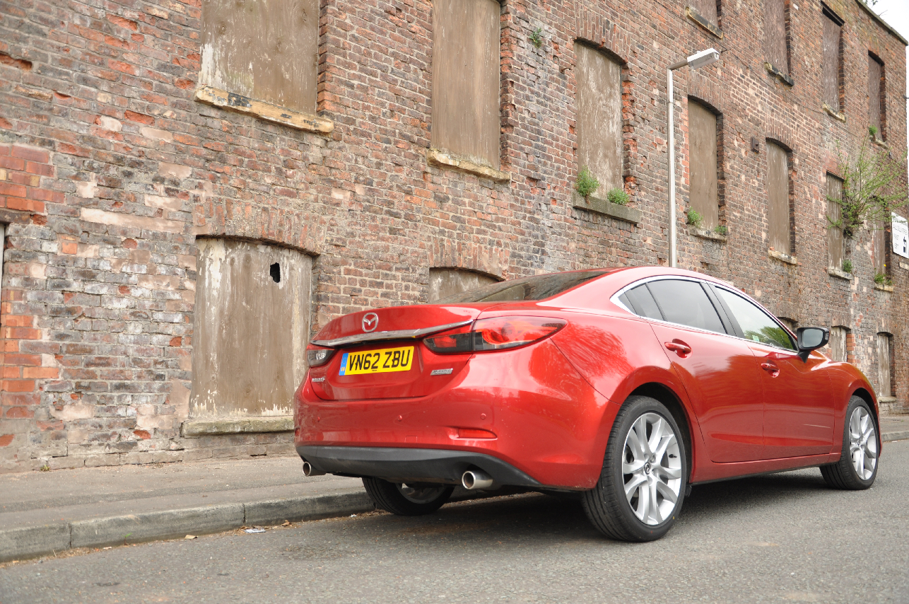2013 Mazda6 2-2 diesel Sport Nav 175PS manual saloon road test review by Oliver Hammond Simons Car Spots - photo rear 34b