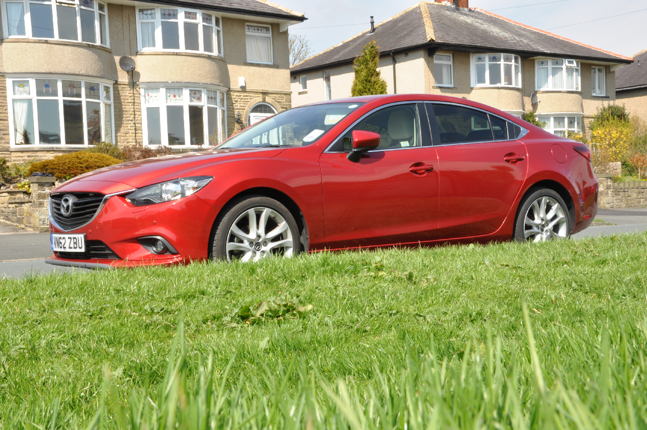 2013 Mazda6 2-2 diesel Sport Nav 175PS manual saloon road test review by Oliver Hammond Simons Car Spots - photo side Princes