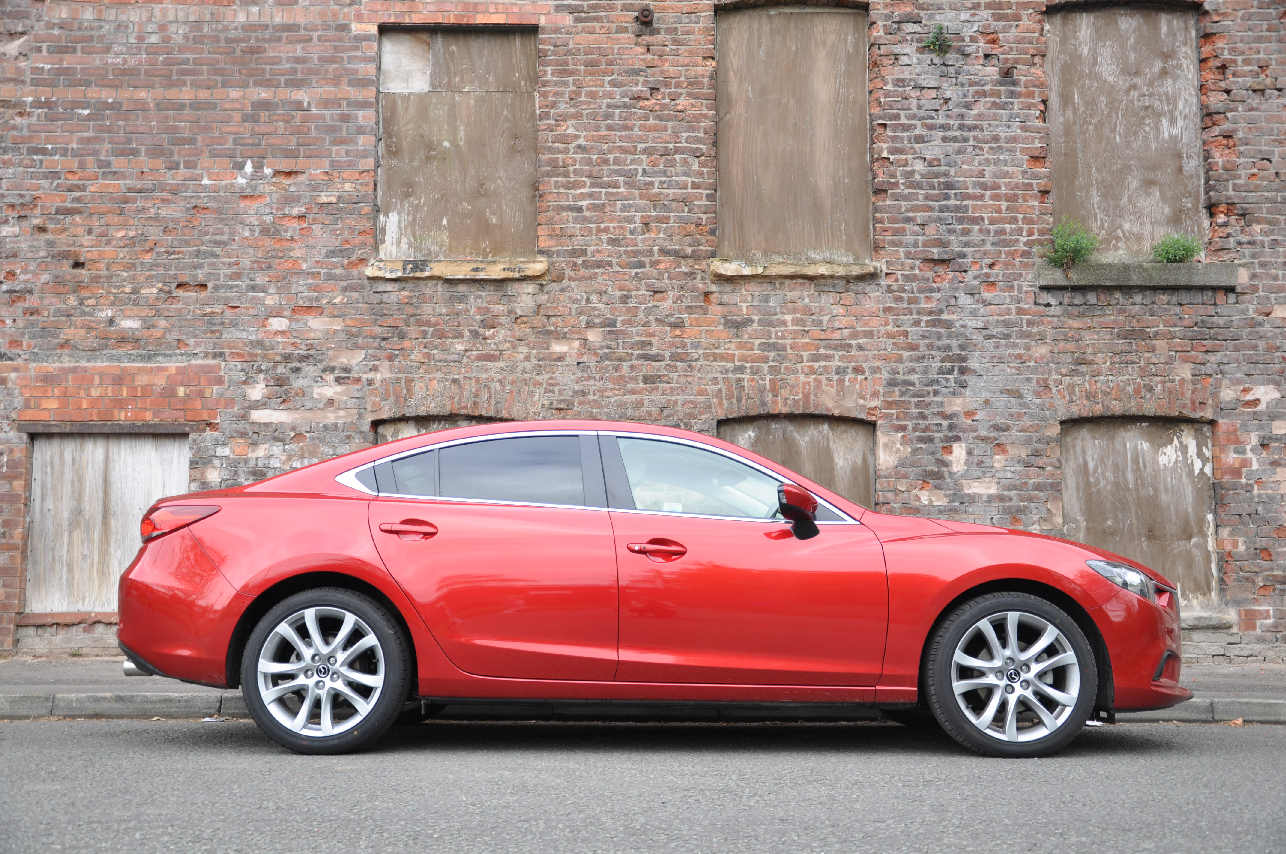 2013 Mazda6 2-2 diesel Sport Nav 175PS manual saloon road test review by Oliver Hammond Simons Car Spots - photo side
